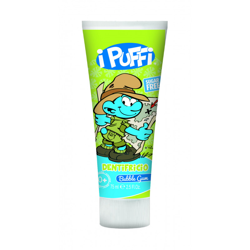 Οδοντόκρεμα με άρωμα τσίχλας σε πλαστικό σωλήνα 75ml - Στρουμφάκια  2980