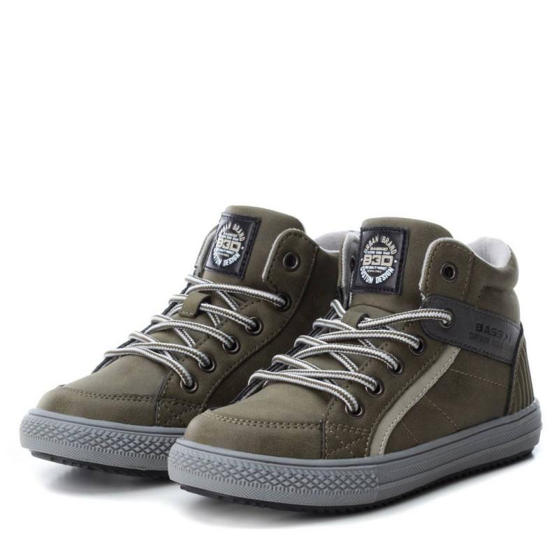 Δερμάτινα παπούτσια μεσαίου ύψους για αγόρια, πράσινο  2994