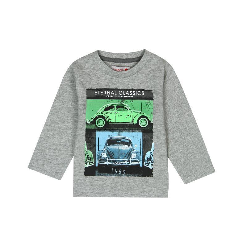 Βαμβακερή μπλούζα με μακριά μανίκια και τύπωμα αυτοκινήτων για αγοράκι  300