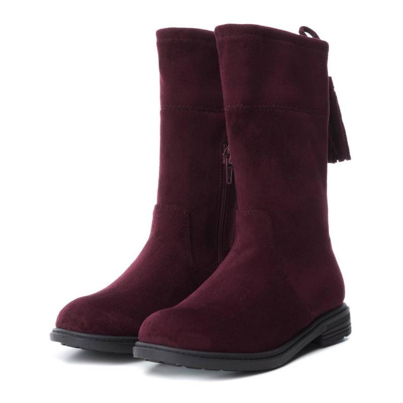 Ψηλές σουέτ μπότες για κορίτσι, κόκκινο  3003