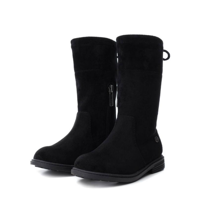 Ψηλές μπότες σουετ για κορίτσι, μαύρο  3007