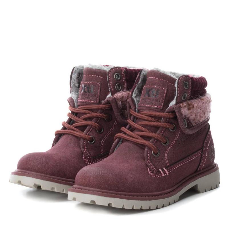 Δερμάτινες μπότες Mid-Height για ένα κορίτσι, κόκκινο  3011