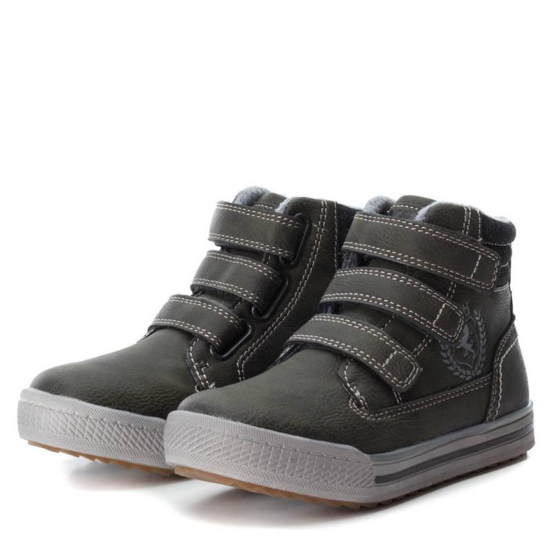 Δερμάτινες μπότες για αγόρια με Velcro  3027
