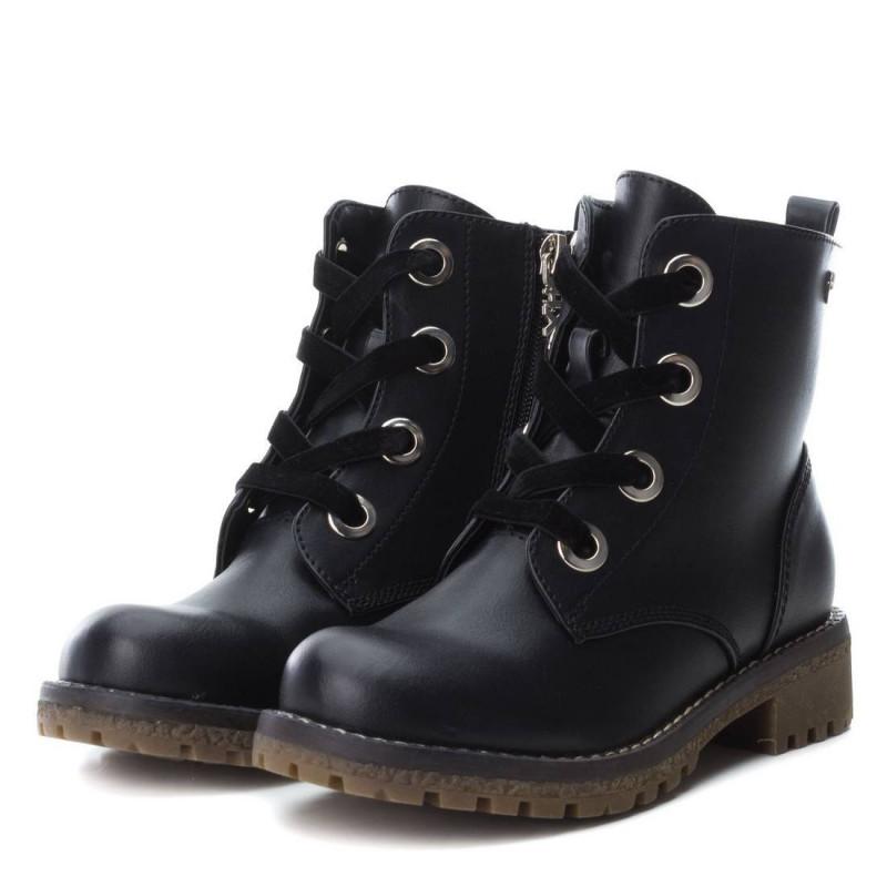 Δερμάτινες μπότες για κορίτσια με κορδόνια  3050