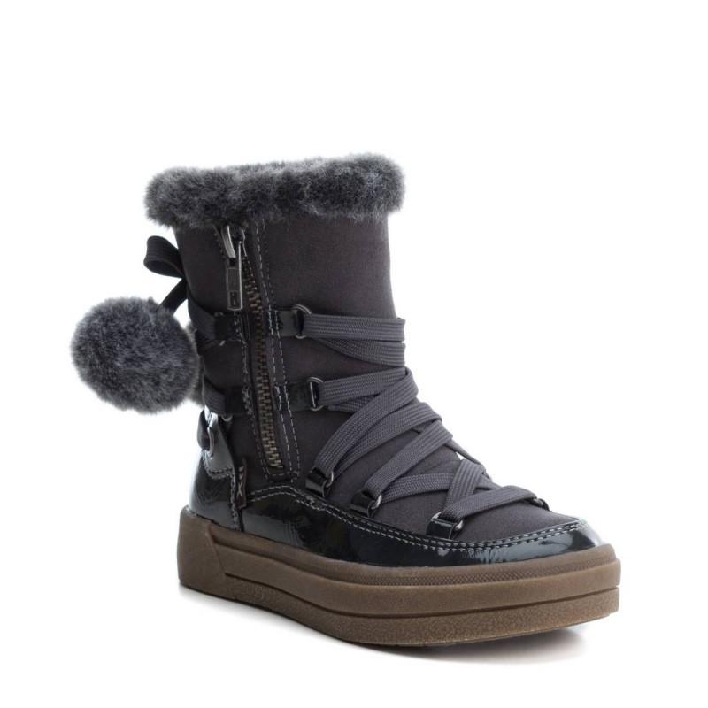 Μπότες για κορίτσια για φθινόπωρο-χειμώνα με φούντες, φερμουάρ και κορδόνια  3102