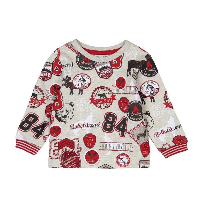 Μακρυμάνικη μπλούζα με πολύχρωμες απλίκες  για αγοράκι  312