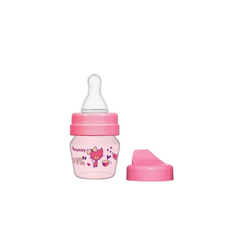 Μπιμπερό πολυπροπυλενίου, για νεογνά ροής πιπίλας, 0+ μηνών, 30 ml, ροζ  3121