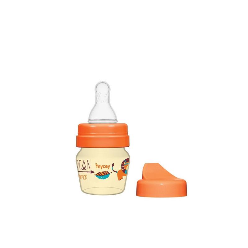 Μπιμπερό πολυπροπυλενίου, για νεογνά ροής πιπίλας, 0+ μηνών, 30 ml, πορτοκαλί  3123
