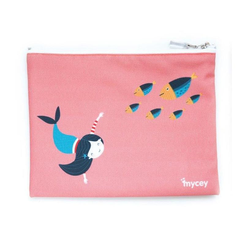 Τσάντα τροφίμων, γοργόνες, 20 x 20 cm, Ροζ  3125