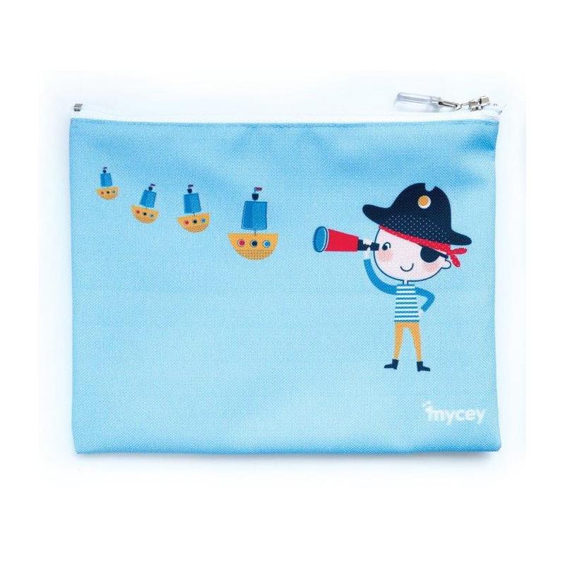 Τσάντα φαγητού, πειρατής, 20 x 20 cm, Μπλε  3128