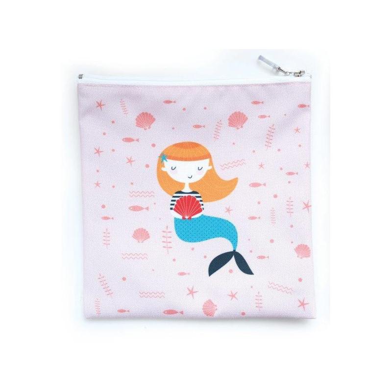 Πολύχρωμη τσάντα φαγητού, γοργόνα, 15 x 20 cm  3130
