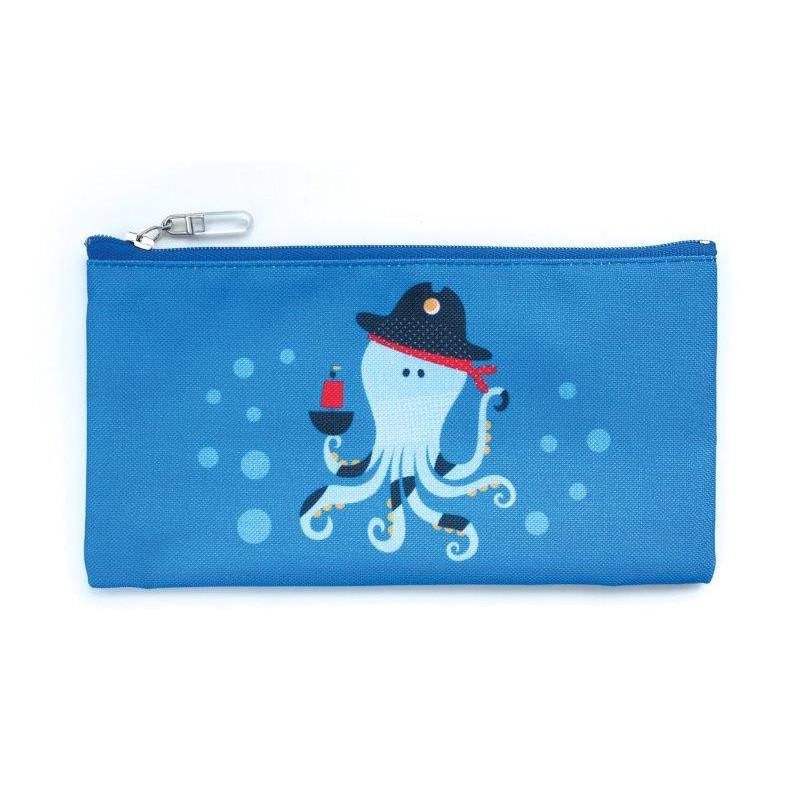 Τσάντα φαγητού, χταπόδι, 10 x 20 cm, μπλε  3137