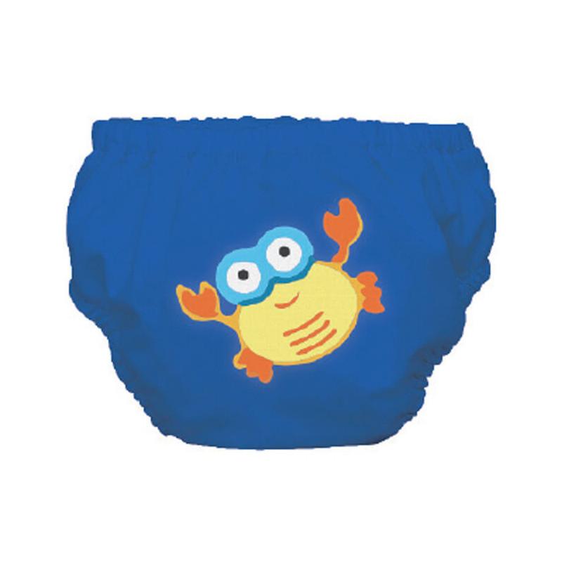 Μαγιό μεγέθους S σε μπλε χρώμα με καβούρι για ένα αγοράκι που ζυγίζει 9 έως 12 κιλά.  3249
