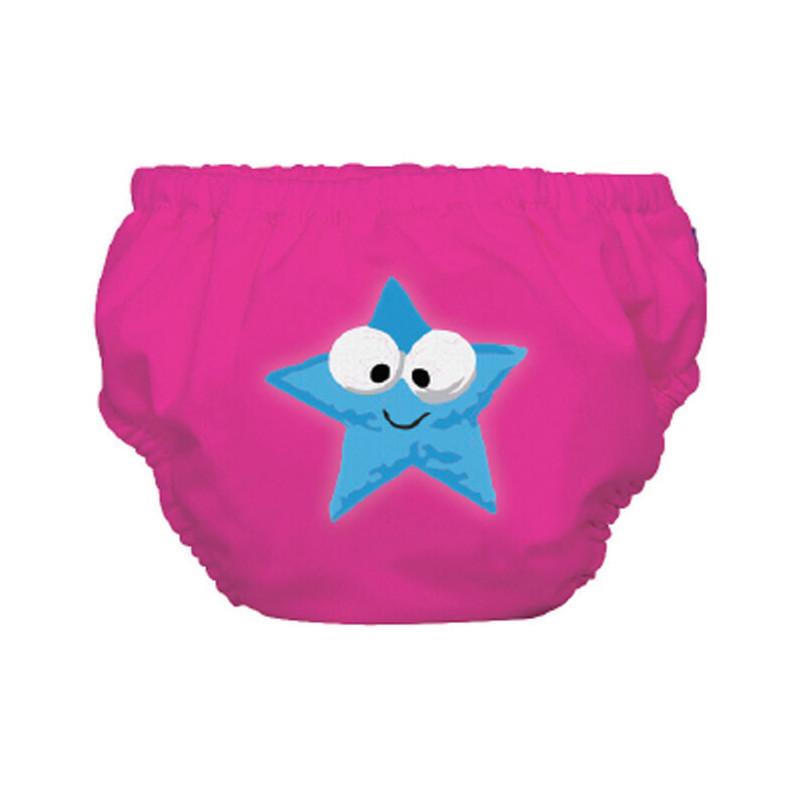 Μαγιό μεγέθους L για ένα κοριτσάκι σε ροζ χρώμα με αστερίσκο για ένα κοριτσάκι βάρους άνω των 14 κιλών  3253