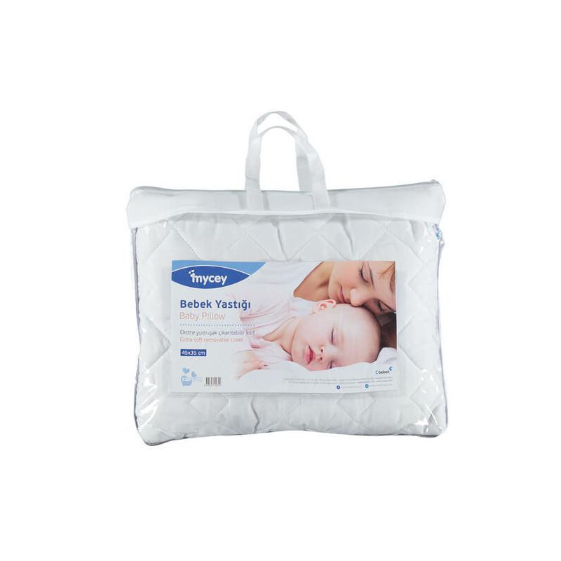 Βρεφικό μαξιλάρι, 35 x 45 cm με αντιβακτηριακές και αντιαλλεργικές ίνες σιλικόνης και υποαλλεργικό βαμβάκι  3264