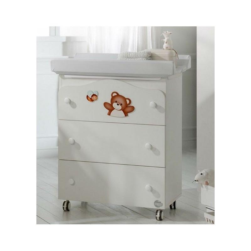 Συρταριέρα (3 συρτάρια), με μπανιέρα και αλλαξιέρα  35129