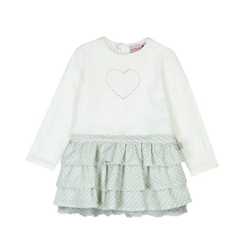 Μακρυμάνικο φόρεμα, διακοσμημένο με καρδιά  3615