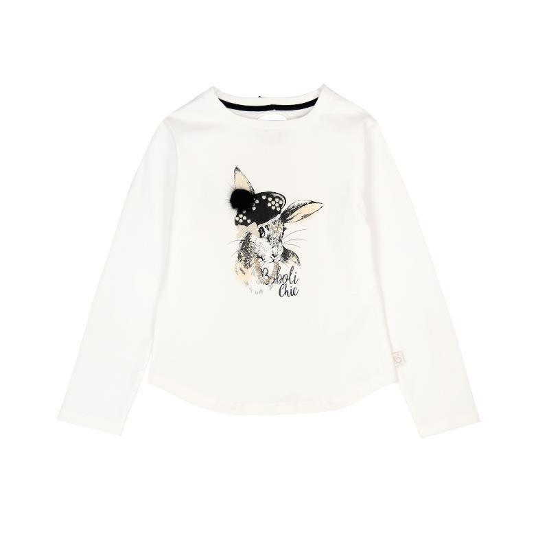 Βαμβακερή μπλούζα με τύπωμα λαγουδάκι για ένα κορίτσι  3662