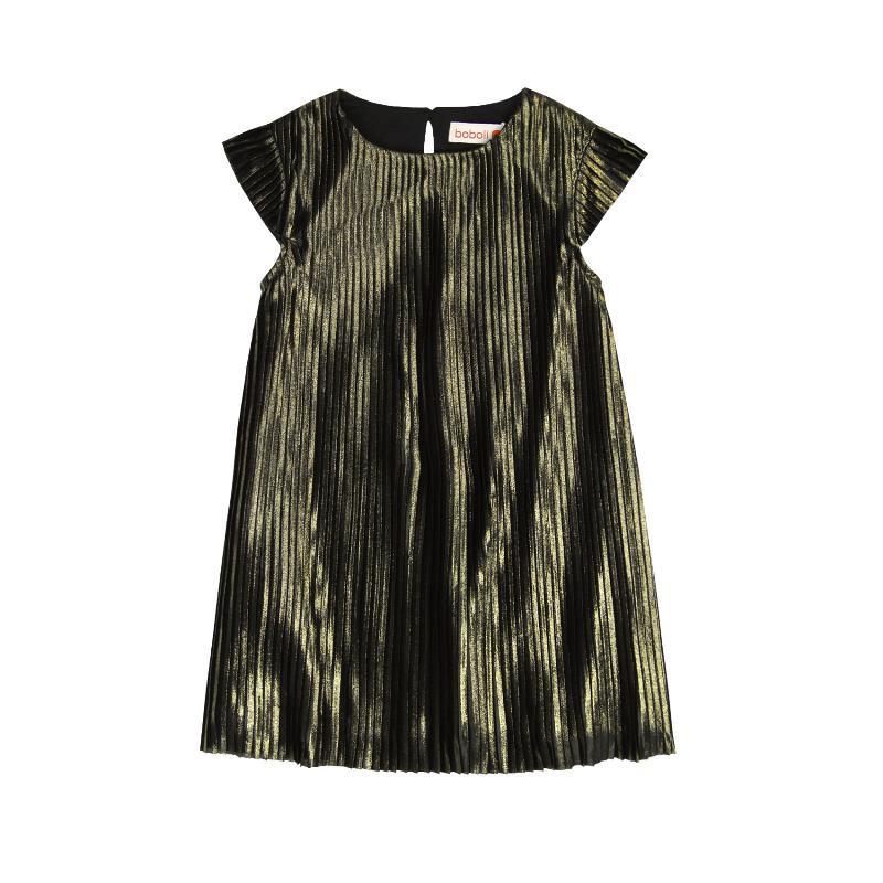 Κοντομάνικο, πλισέ φόρεμα για κορίτσι  3670