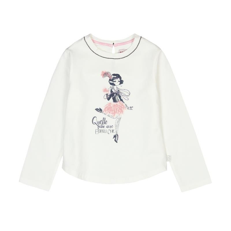 Βαμβακερή μπλούζα με μπροστινό μέρος για ένα κορίτσι  3674