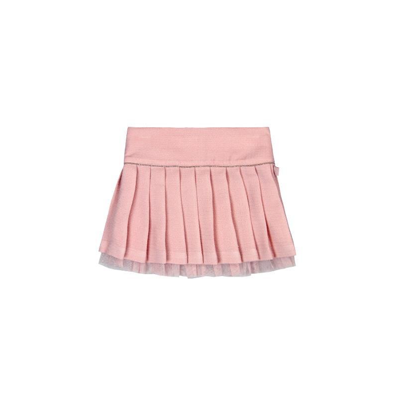 Πλισέ φούστα για κορίτσι, με ραμμένο τούλι εσωτερικά  3678