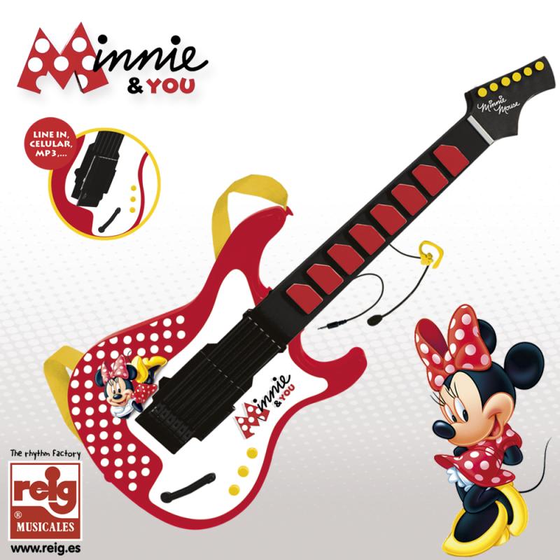 Παιδική ηλεκτρονική κιθάρα με μικρόφωνο σχεδιασμένο με Mini Mouse  3746
