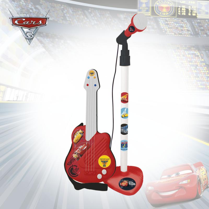 Παιδική κιθάρα και μικρόφωνο, Cars αυτοκινητάκια  3770
