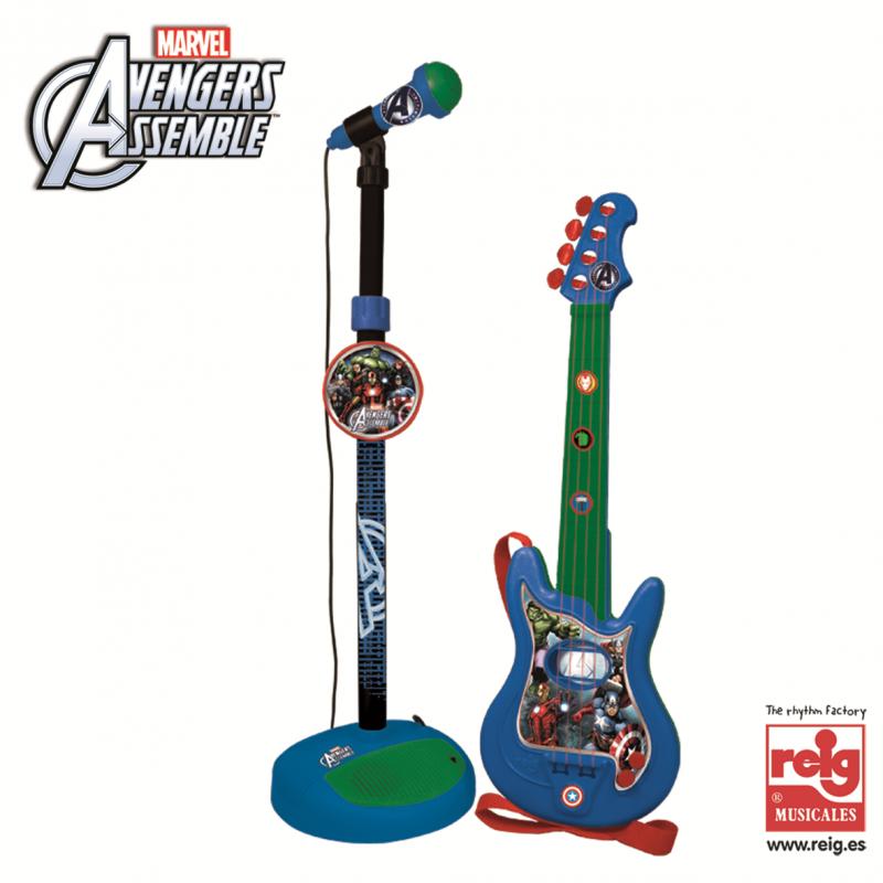 Σετ κιθάρα και μικρόφωνο για παιδιά Avengers  3816