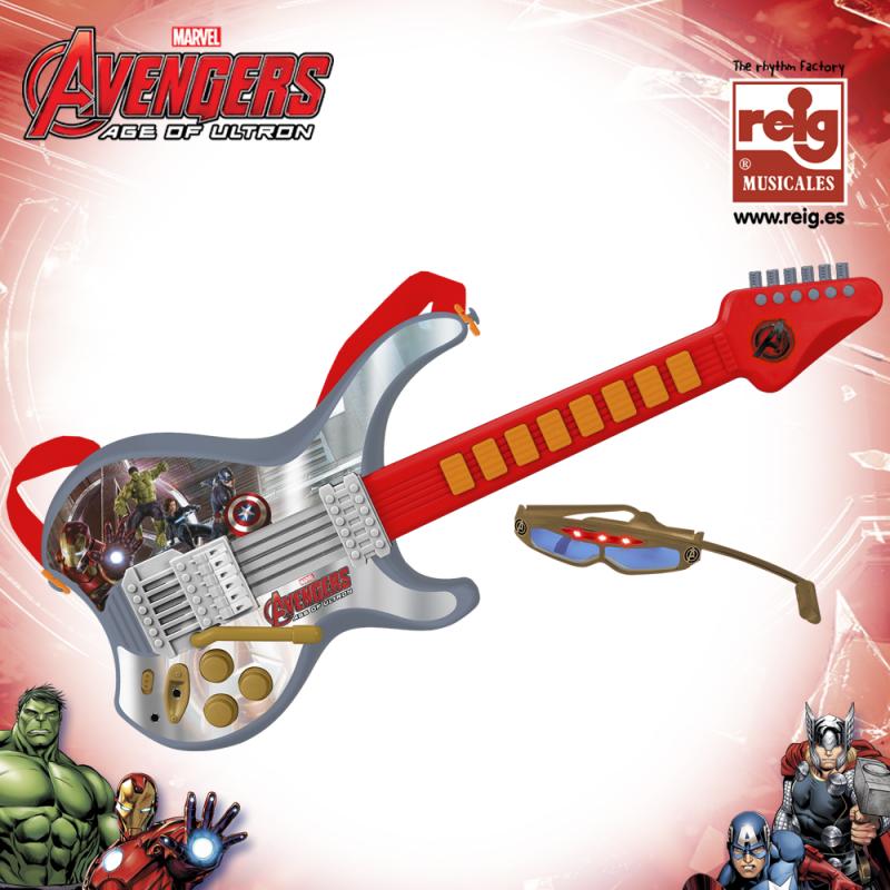 Παιδική ηλεκτρονική γυάλινη κιθάρα με μικρόφωνο Avengers  3819
