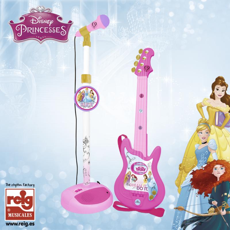 Παιδική κιθάρα και σετ μικροφώνου, ροζ χρώματος  3825