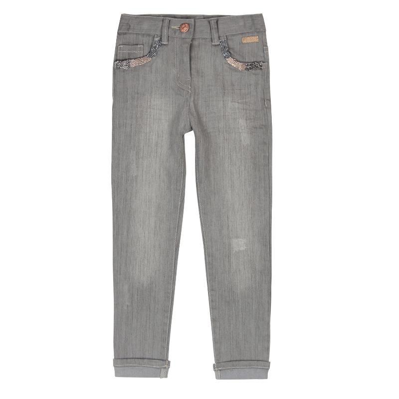 Τζιν παντελόνι για κορίτσια με λεπτομέρειες και πέντε τσέπες  429