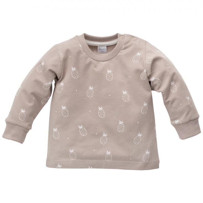 Βαμβακερή, μακρυμάνικη μπλούζα Unisex με τυπωμένα σχέδια ανανά  44472