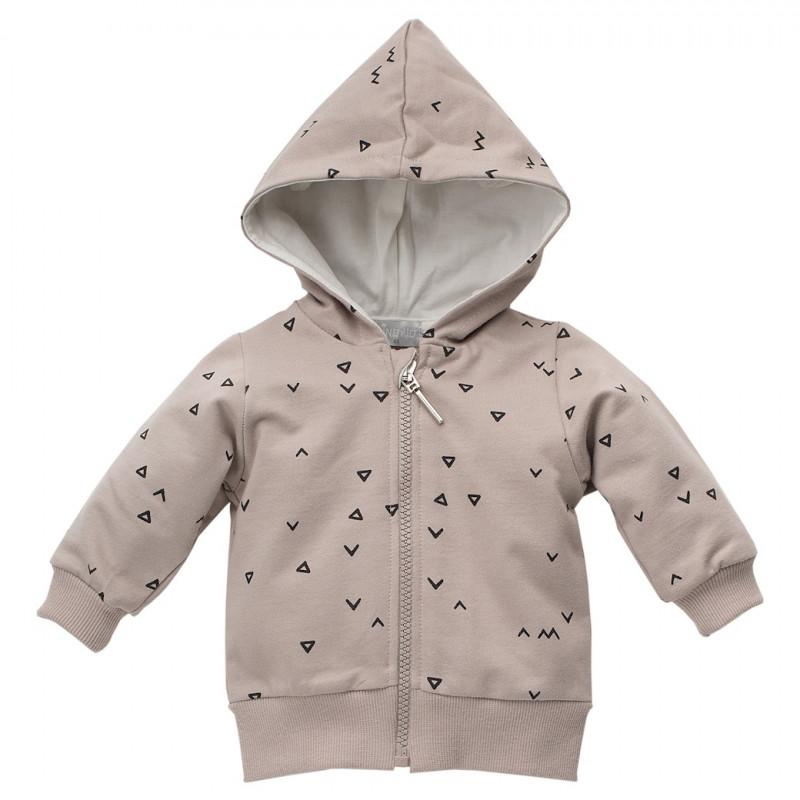 Βαμβακερό πουλόβερ με σχέδια τριγώνων σε μωβ χρώμα - unisex  44473