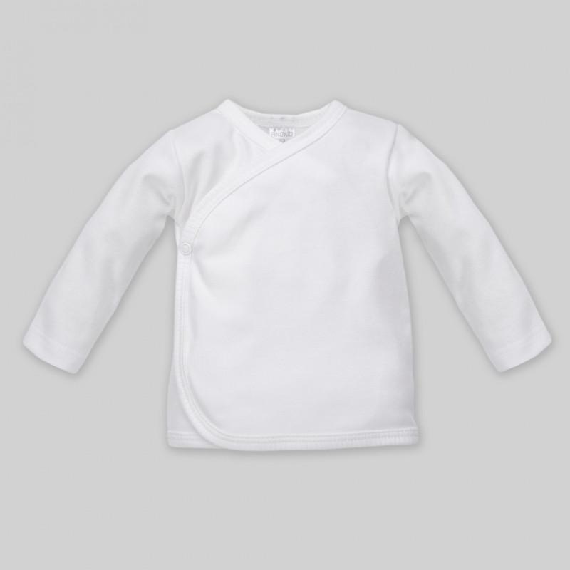 Μακρυμάνικη ζακέτα από βαμβάκι σε λευκό για μωρά - Unisex  44495