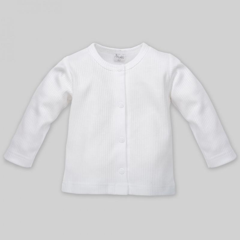 Βαμβακερή μακρυμάνικη ζακέτα με κουμπιά τικ-τακ για μωρό - unisex  44496