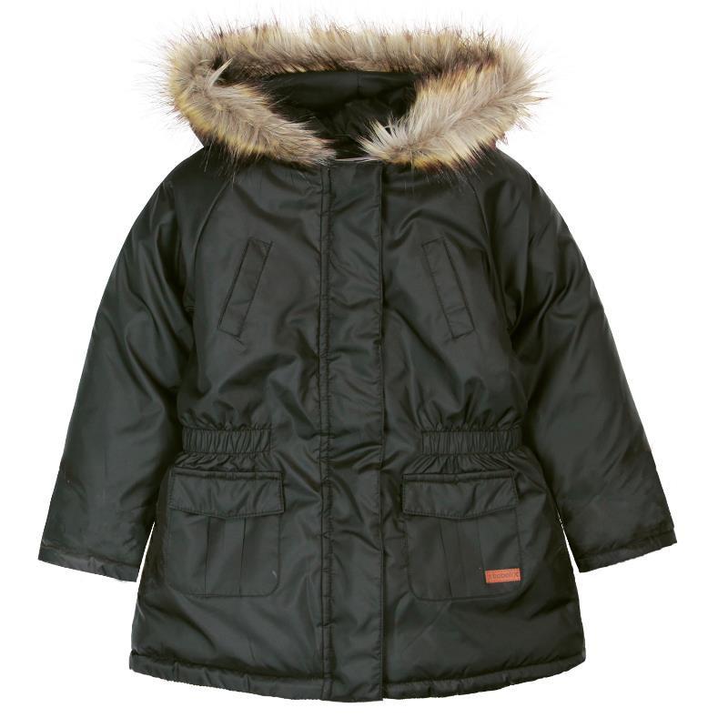 Μαύρο μπουφάν με κουκούλα για αγόρι  524