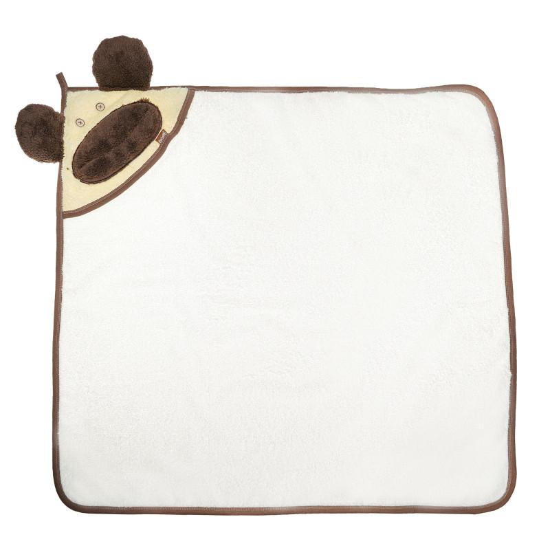 Βαμβακερό μπουρνούζι με κουκούλα και ραμμένα αυτιά για μωρά - unisex  54557