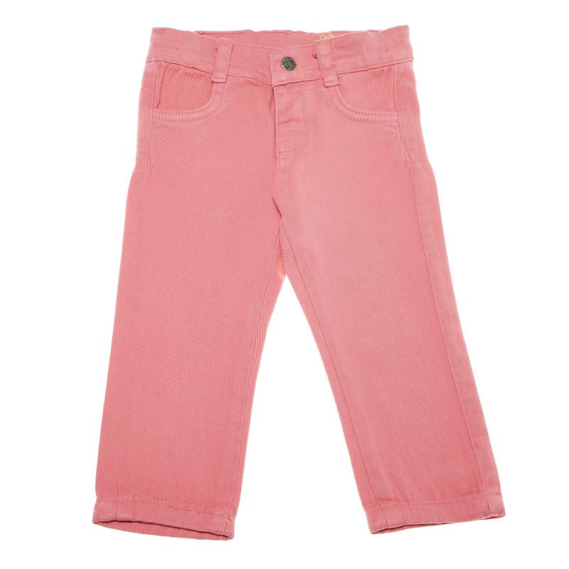 Τζιν παντελόνι για κορίτσι, σε ανοιχτό ροζ χρώμα  54829