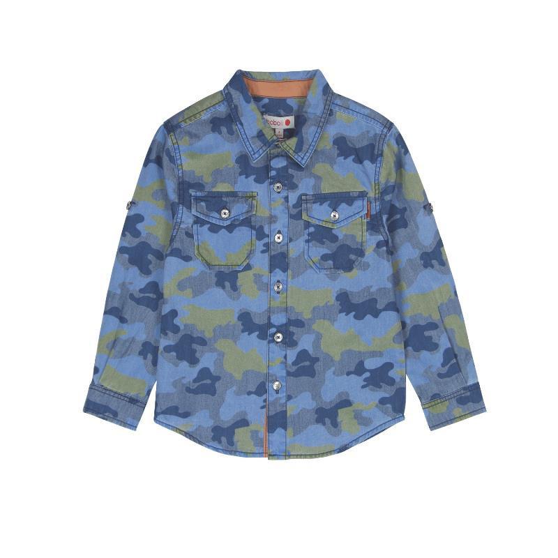 Μακρυμάνικο πουκάμισο με σχέδιο καμουφλάζ για αγόρι  572