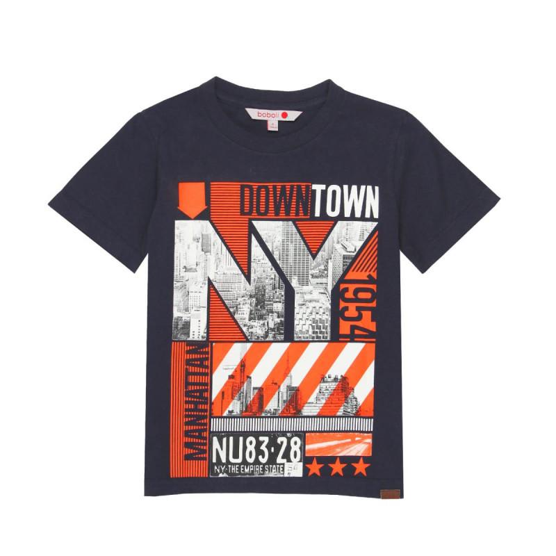 Βαμβακερό μπλουζάκι με μοντέρνο σχέδιο για αγόρι  665