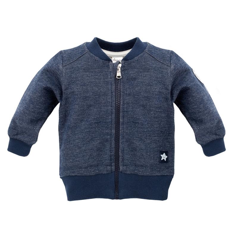 Βαμβακερό φούτερ για αγόρια, σε σκούρο μπλε  695