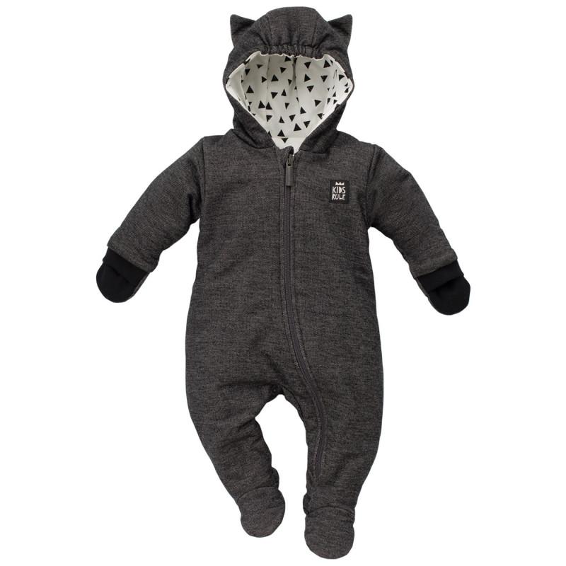 Βαμβακερό φορμάκι με κουκούλα και γάντια για μωρό  743