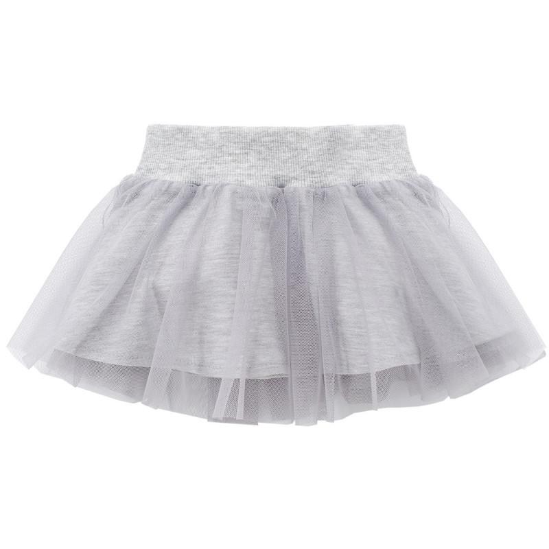 Γκρι φούστα από τούλι και επένδυση από μαλακό βαμβάκι για μωρό  751