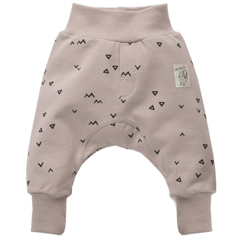 Βρεφικό, βαμβακερό παντελόνι με τυπωμένα σχέδια, unisex  772