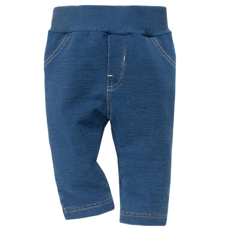 Τζιν με ελαστική μέση, σε μπλε χρώμα  800