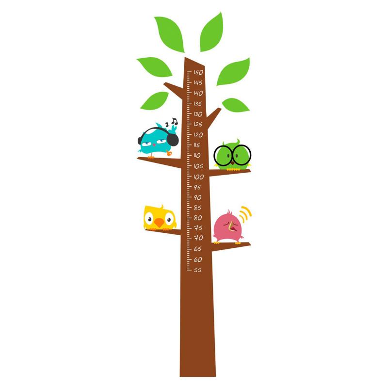 Αυτοκόλλητο χάρτη ανάπτυξης, αυτοκόλλητο τοίχου - δέντρο για μέτρηση ύψους  82852
