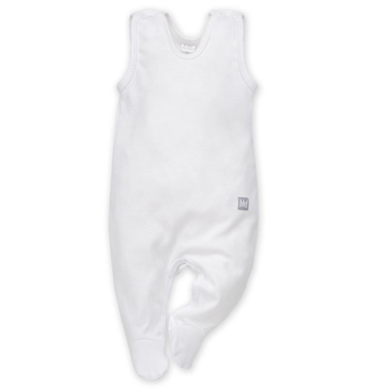 Αμάνικη βαμβακερή ολόσωμη φόρμα  - Λευκό Unisex  869