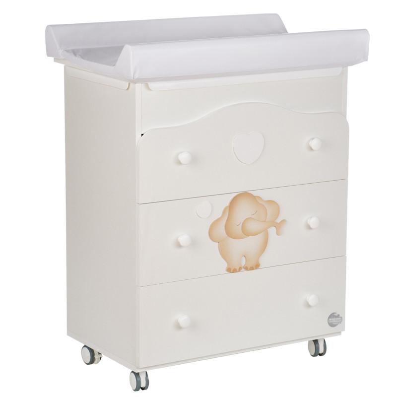 Συρταριέρα Με μπανιέρα και αλλαξιέρα - με χαρούμενο ελέφαντα Baby Expert 88227