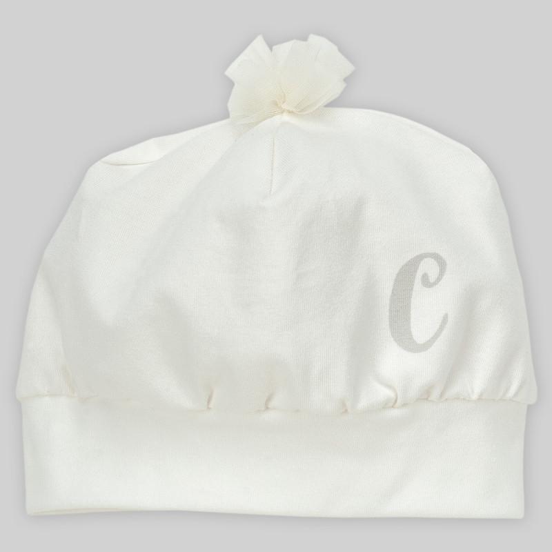 Βαμβακερό καπέλο για κοριτσάκι με τούλι  884
