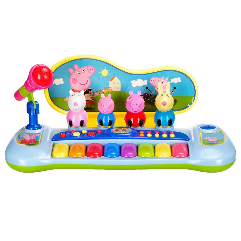 Ηλεκτρονικό πιάνο με μικρόφωνο και 8 χρωματιστά πλήκτρα  96122